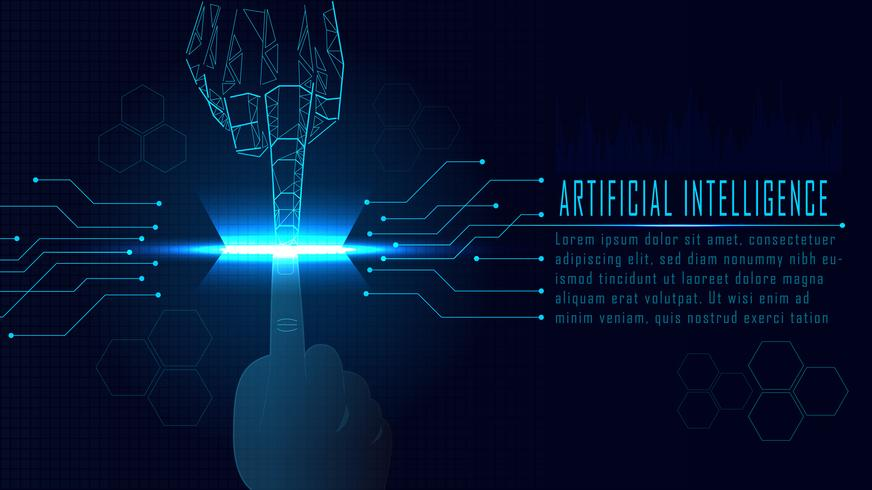 Concepto de inteligencia artificial vector