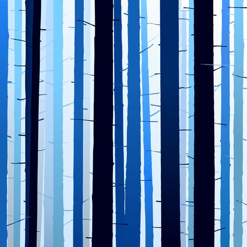 Group of silhouettes trees blue dark light background vector