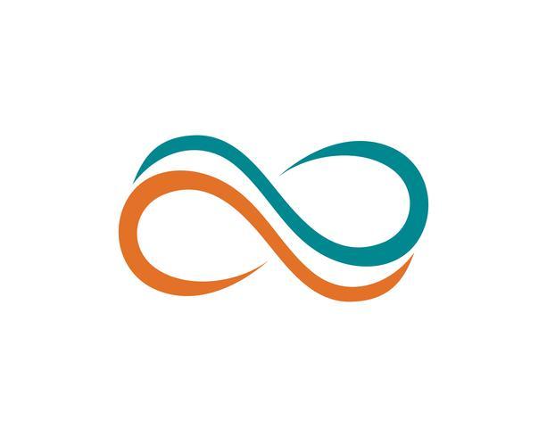 vettore di infinito logo e simbolo icone modello vettoriale