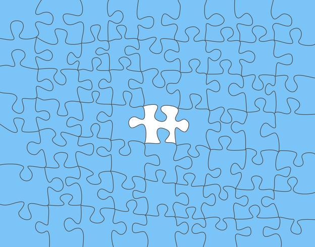 Vector abstracto colorido fondo hecho de pieza de puzzle blanco
