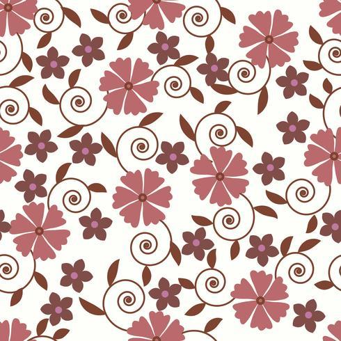 Modelo inconsútil del vector con el fondo floral romántico. Sutil