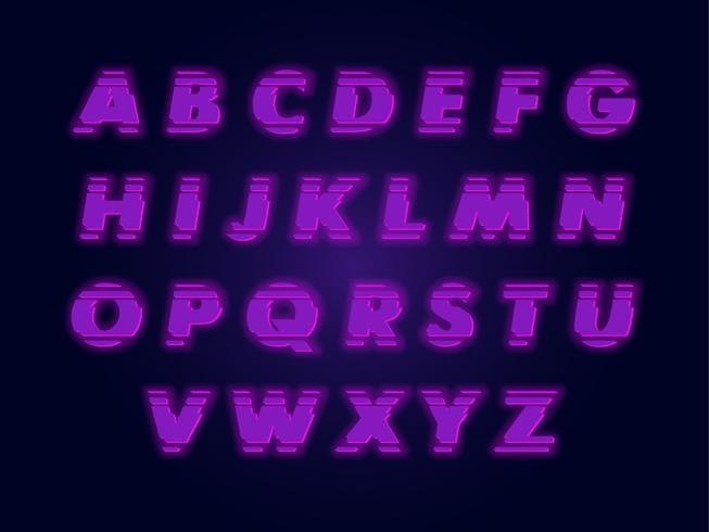 Modernes Alphabet Design