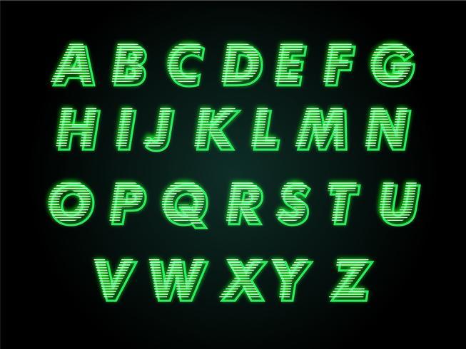Moderner Alphabet-Stil