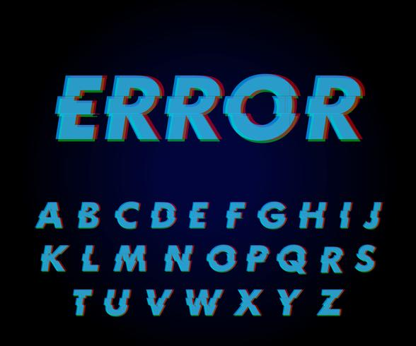 Glitch font effect