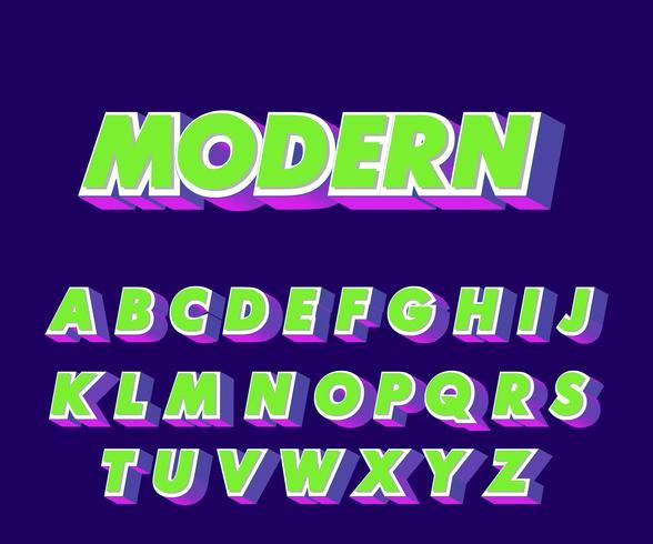 Moderne alfabetstijl