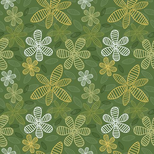 Seamless Floral Background Vector4-01
