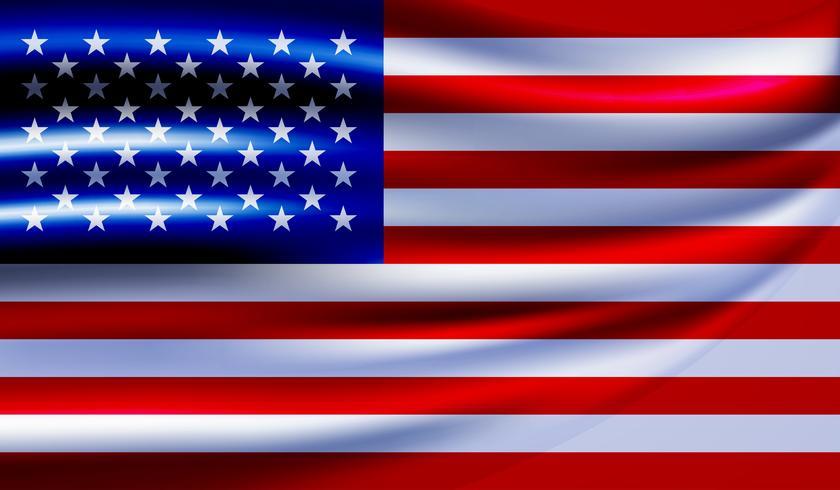 Vetor de bandeira do EUA. Estados Unidos bandeira fundo ilustração vetorial