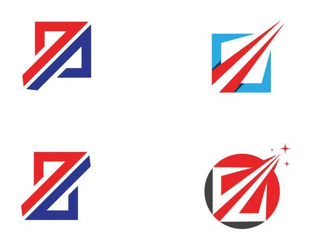 Modèle d'application logo et symboles de la finance d'entreprise