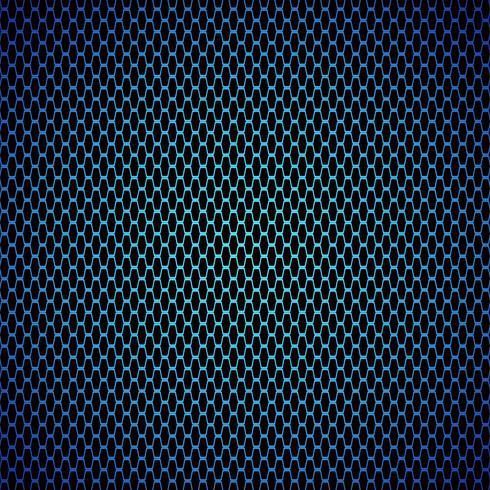 Fondo de textura de fibra de carbono azul - ilustración vectorial