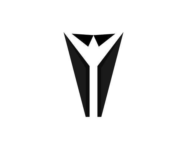 Schwarzes Logo und Symbolvektor der Smokingmänner Farb