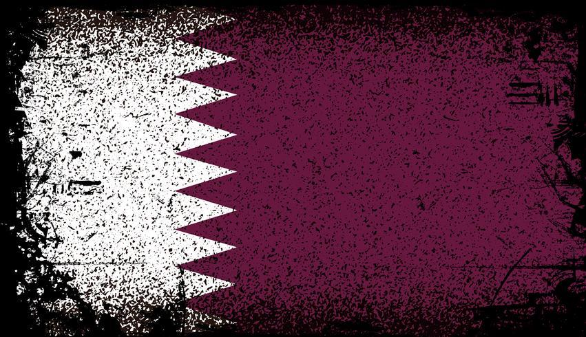 Bandera de qatar grunge. ilustración vectorial de fondo