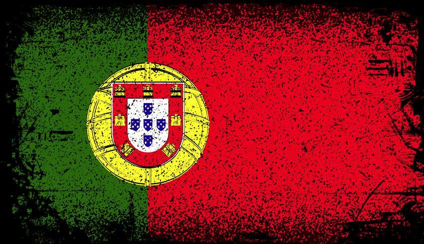 Portugal Grunge Flagge