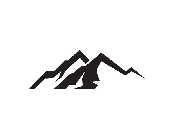 Vector de montaña logo y símbolo