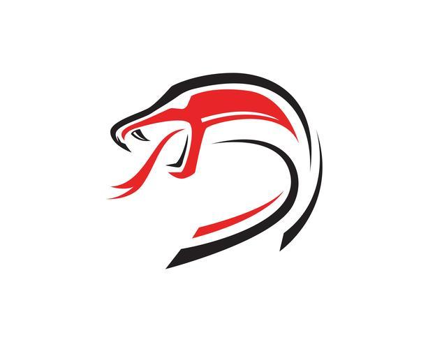 viper snake logo design element. danger snake icon. viper symbol vector