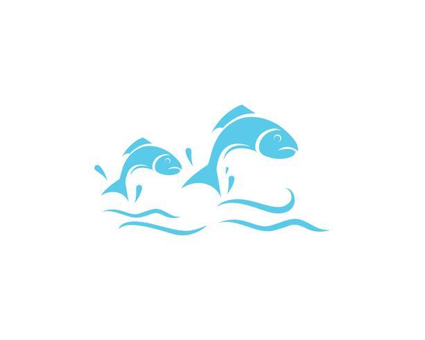 Fisch-Logo-Vorlage. Kreatives Vektorsymbol des Fischereivereins oder online