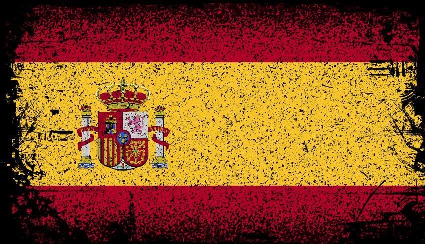 España bandera de grunge. ilustración vectorial de fondo