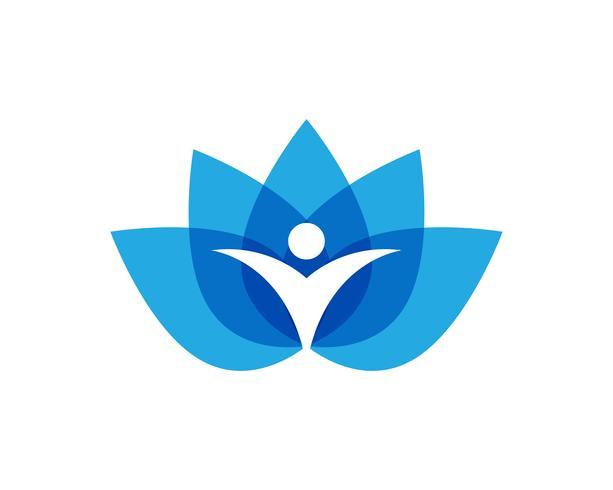Lotus people logo and symbols vector