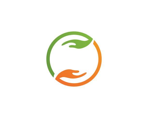 Hand-Logo und Symbole Vorlage Symbole