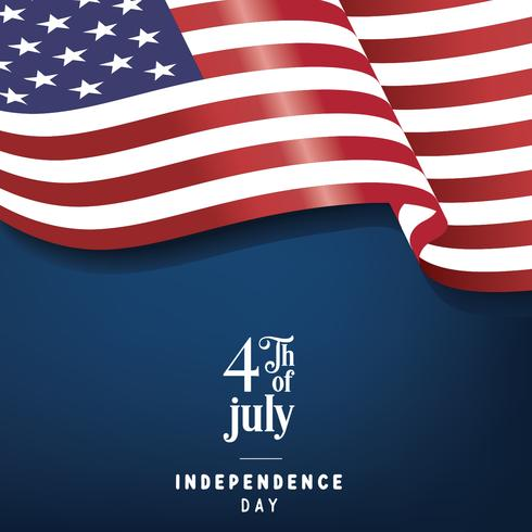 4th of July Poster Vector Design