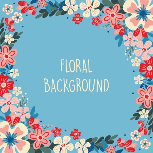 Flor de primavera / borda Floral / grinalda fundo Impresso modelo - ilustração vetorial - Vector