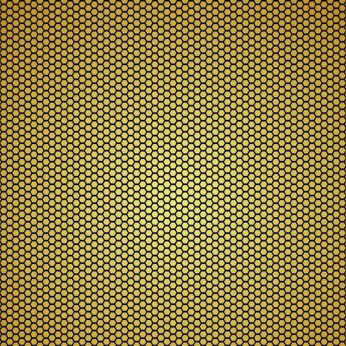Fondo de fibra de carbono de oro patrones sin fisuras. Ilustración vectorial vector