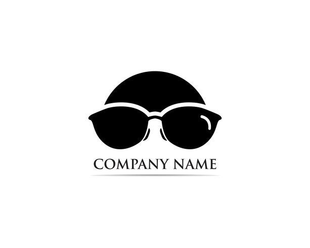 Brille Logo Design Vektor