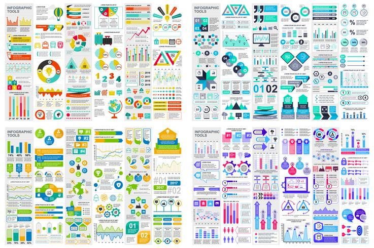 Set Of Infographic Elements Data Visualization Vector Design
