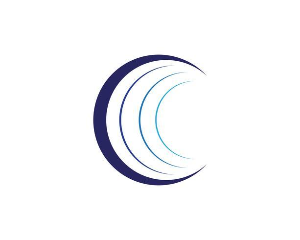 Ilustración de vector de plantilla de logotipo icono de mundo