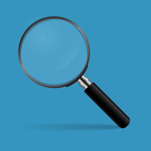 Concepto de lupa para encontrar personas para trabajar en la organización. vector