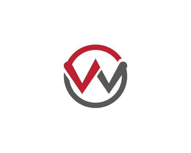 W logo y simbolo vector