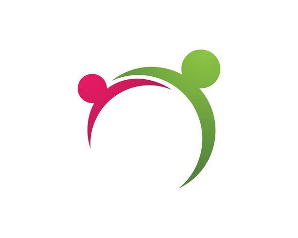 Logotipo e símbolos da liderança do trabalho do sucesso dos povos