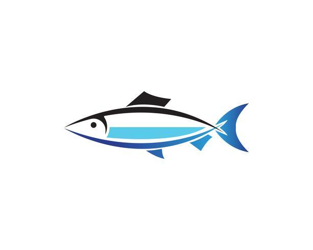 Plantilla de logotipo de pescado. Vector creativo símbolo de club de pesca o en línea