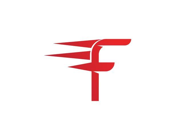 F-embleemsymbolen De illustratieontwerp van het malplaatje vectorpictogram