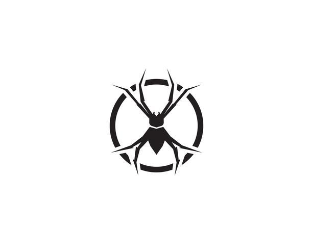 Logotipo de araña ilustraciones vectoriales