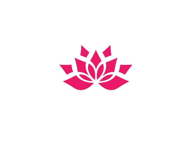 Beauty Vector Lotus flowers design logo Template icons