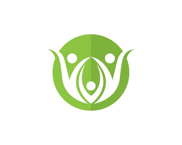 Salud familiar terapia terapia logo y simbolos naturaleza. vector