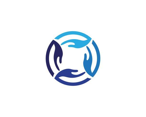 Hand logo en symbolen sjabloon pictogrammen