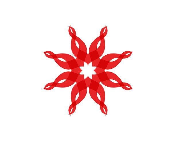 logo de motifs floraux et symboles sur fond blanc