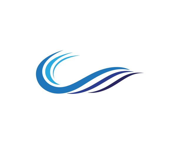 Water wave Logo Template vector illustration design