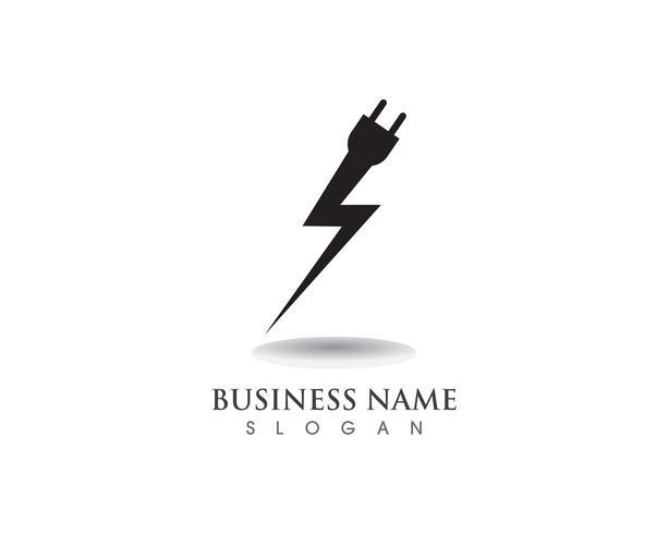 Flash-strömkabellogo och symboler