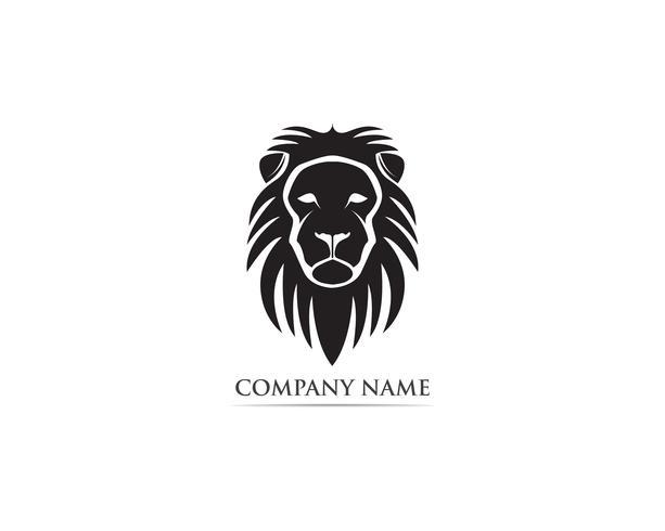 León cabeza mascota logotipo y símbolo vector