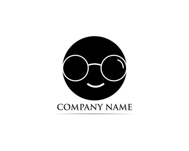 Occhiali Logo Design vettoriale
