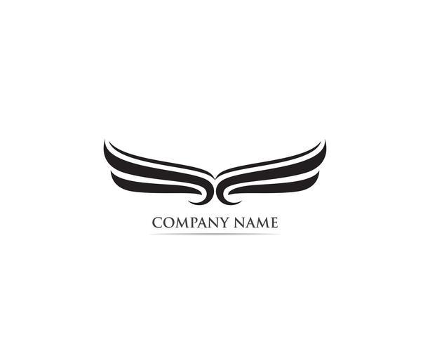 Wing falcon eagle bird logo vector