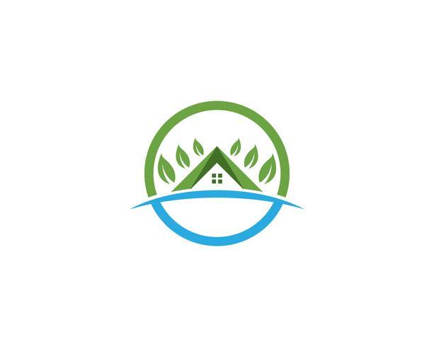 vetores de logotipo casa verde