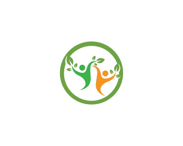 Template vecteur de vie saine Logo