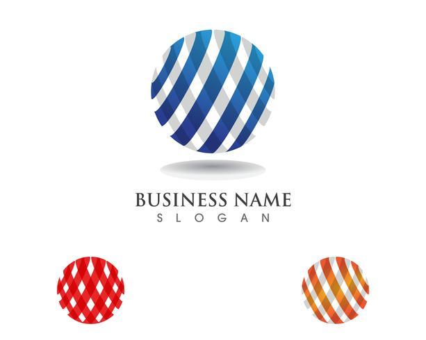 Tecnología global de comunicación de logos. vector
