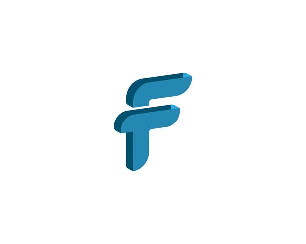 Letra de modelo de vetor de símbolos de negócios logotipo F