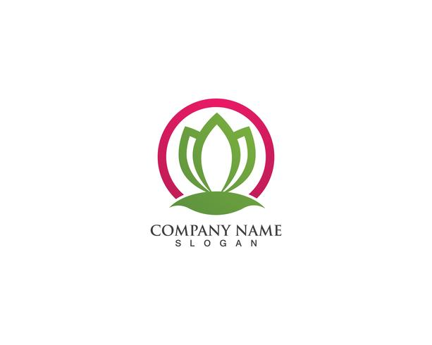 hoja verde naturaleza logo