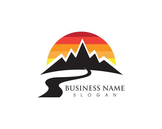 Logotipo da montanha e símbolos
