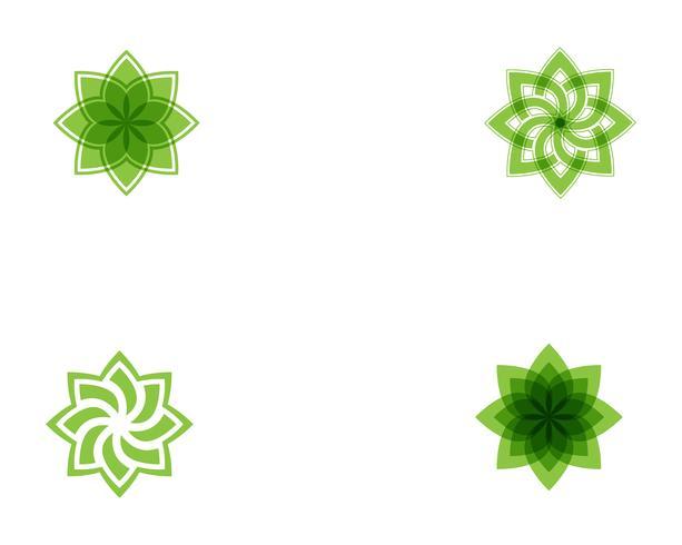 Vektorikone Illustrationsdesignschablone des Baum-Blattgrüns